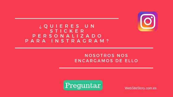 Sticker personlizado Websitestory diseño y desarrollo web en Madrid