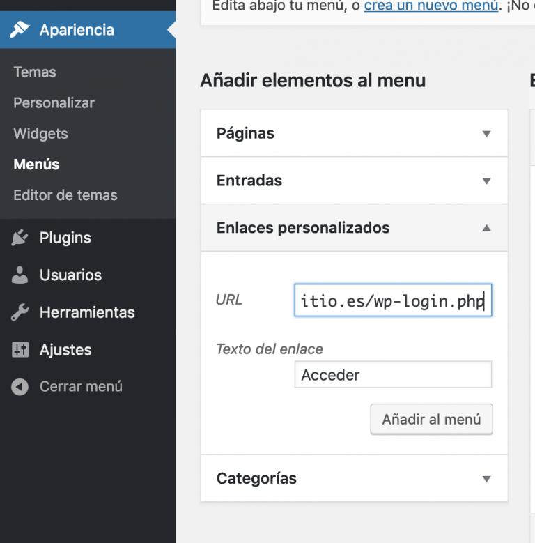Link personalizado en login WordPress
