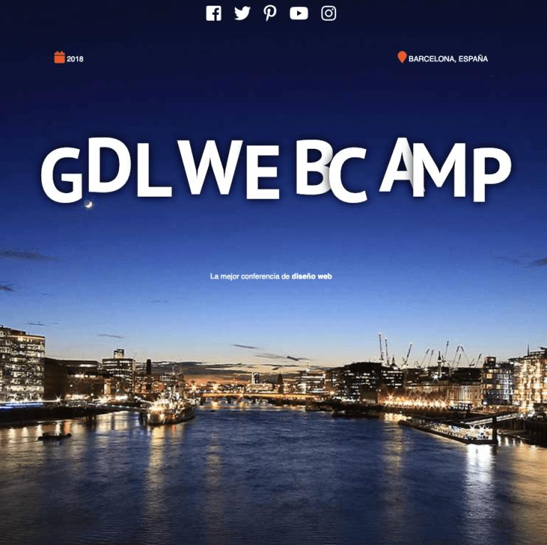gdlwebcamp proyecto web de conferencias
