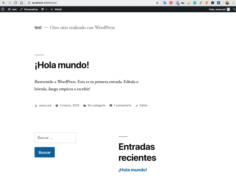 Wordpress front end