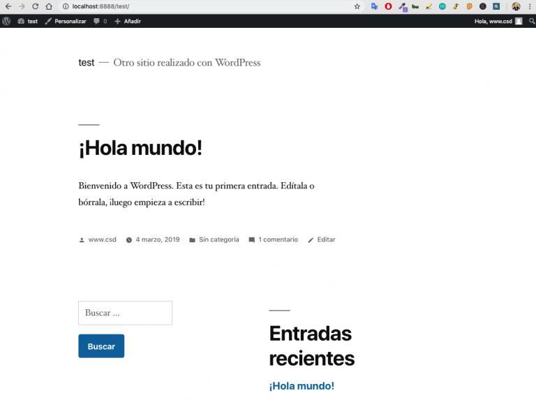 Wordpress front end