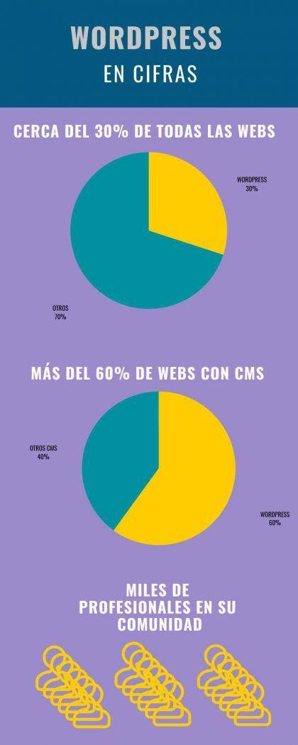Infografía WordPress estadísticas
